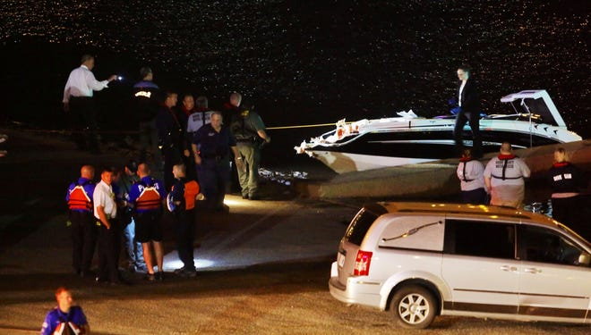 Boat involved in fatal crash with barge on Ohio River on Thursday night.