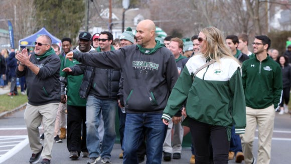 Pleasantville High School football coach Tony Becerra