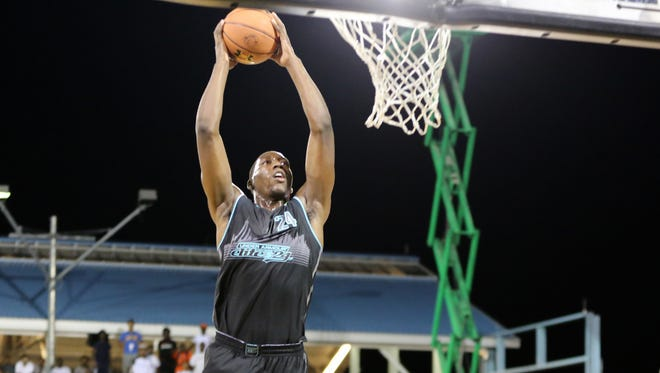 Team Doo Be Doo's Bam Adebayo #24 in action against Team EZ Pass in the Under Armour Elite 24 game on Saturday, August 22, 2015 in Brooklyn, NY.