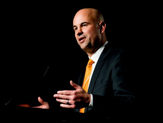 Jeremy Pruitt speaks during his introduction ceremony