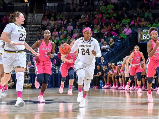NCAA Womens Basketball: Georgia Tech at Notre Dame