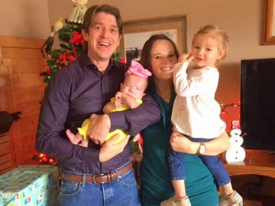 The Willard family celebrates a special Christmas. From left are Cody, Amaris, Lori and Lyncoln.