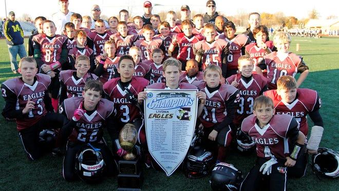 The Livonia Eagles junior varsity football team won Sunday's WLJFL Super Bowl over the Northville Stallions, 6-0.