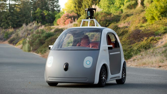 Google's prototype for a self-driving car.