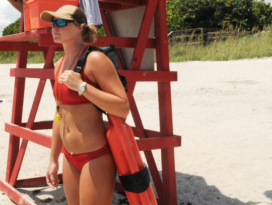 Brevard County Lifeguards Ashley Nolan and Jessy Rike
