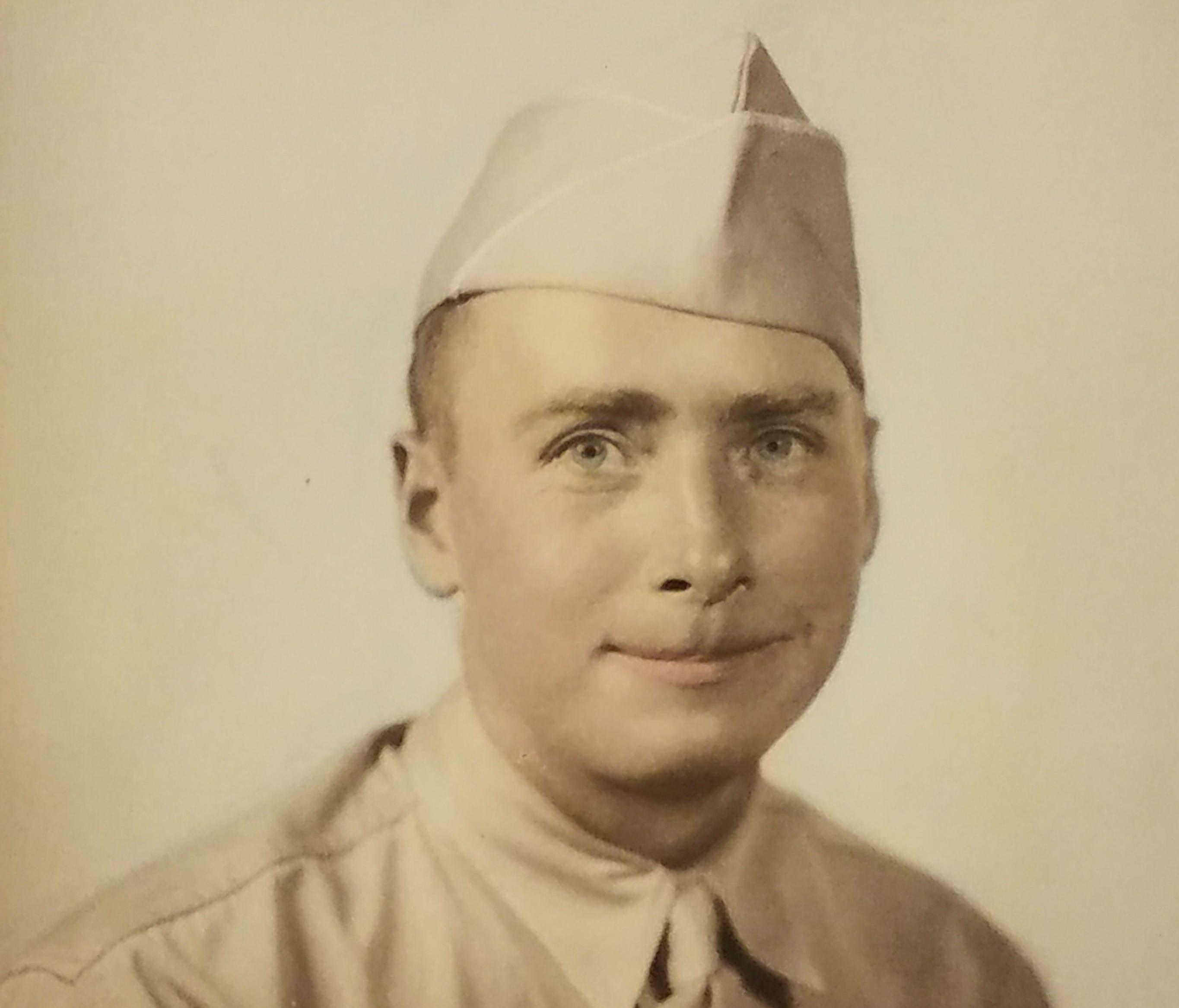 A photo of Bernard McNamara, whose Purple Heart was found in Rockland County.