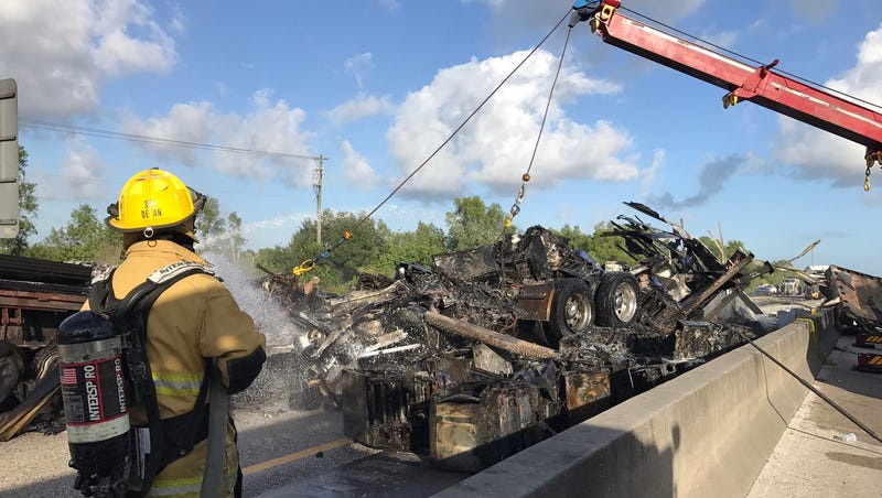 Turnpike closed for hours after morning crash in St  Lucie