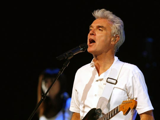 David Byrne, pictured in 2008, performs at the Asbury Park Press Stage at the Count Basie Theatre in Red Bank in March.