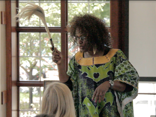 Danielle Daniel presents during a workshop at the 2017