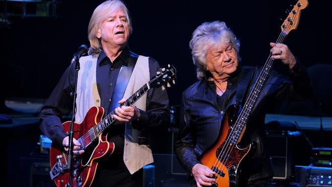 The Moody Blues, featuring Justin Hayward (left) and John Lodge, perform Friday at The Show in Rancho Mirage.