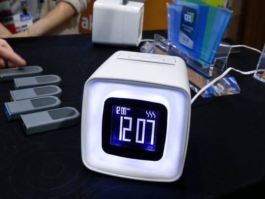 The Sensorwake olfactory alarm is displayed at CES