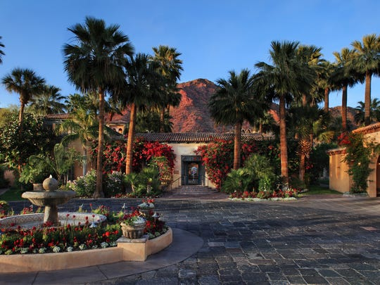 Entrance to the Royal Palms Resort and Spa.