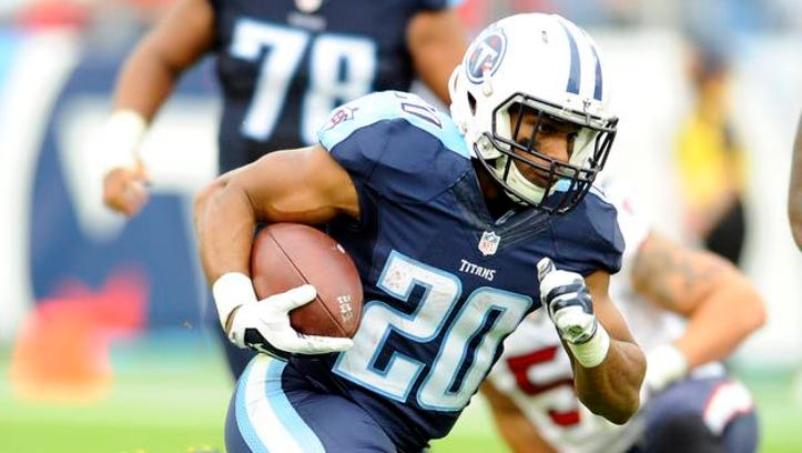 Titans running back Bishop Sankey played only two snaps against the Falcons last week.