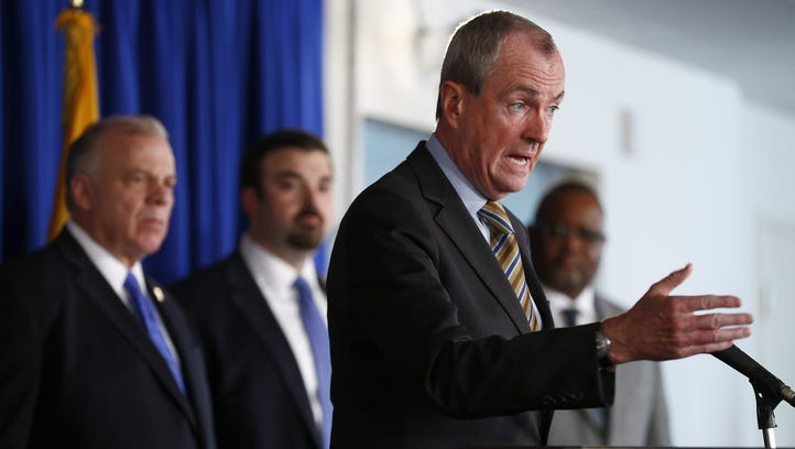 Gov. Phil Murphy was joined by Cabinet officials and