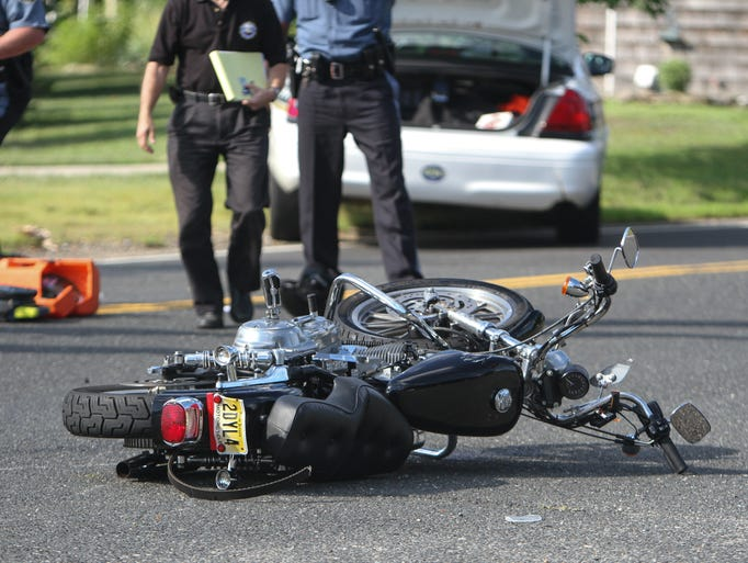 Farmingdale, NJ - The scene of a motorcycle accident at Squankum Yellowbrook Rd and West Farms Rd that killed Sanit Sungwusan, a 58-year-old Howell resident.