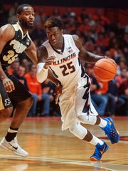 Kendrick Nunn playing for Illinois on Jan. 10, 2016.