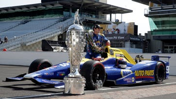 Indy 500 winner Alexander Rossi glad to get Baby Borg in Detroit