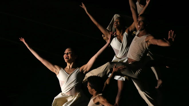 Ailey II dancers perform during RIT's celebration of Martin Luther King's legacy.