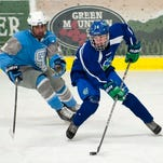 Colchester's Matty Cuce (right) will play in Saturday's Essex Rotary hockey classic for the Austin Conference.