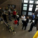 Family and friends came to pay respects to Roger Moore Friday afternoon during calling hours at Bucyrus City Hall.