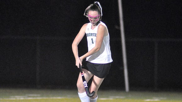 Brewster's Keegan O'Connor winds up before taking a