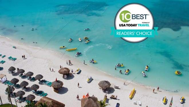 Cancun earns number one spot as reader votes name top ten places for a spring break trip.