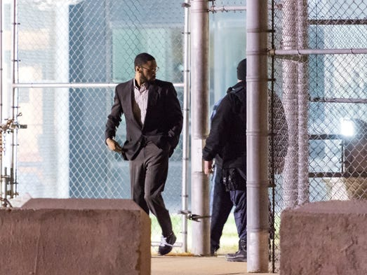 Isaiah McCoy walks out of Howard R. Young Correctional