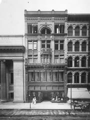 J.M. Gidding & Co., an upscale women's clothier on West Fourth Street, circa 1910, shows the elegant Rookwood tile trim. Gidding later became the Gidding-Jenny store.