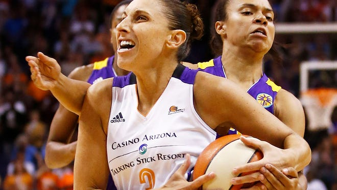 Mercury guard Diana Taurasi, pictured during Friday night's win over the Los Angeles Sparks, will lead the Mercury into the WNBA Western Conference finals.