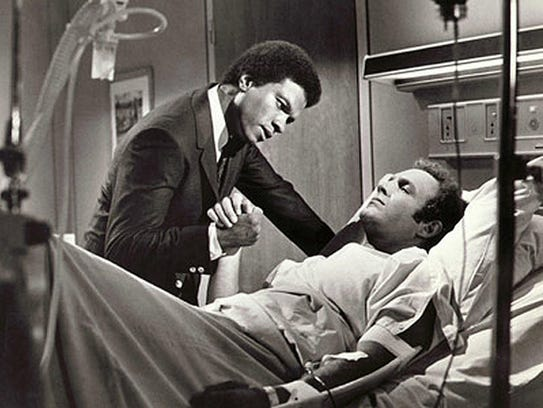 Billy Dee Williams (left) and James Caan star in the