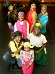 """Cast members of Hattiloo Theatre's production of """"Take the Soul Train to Christmas"""""""
