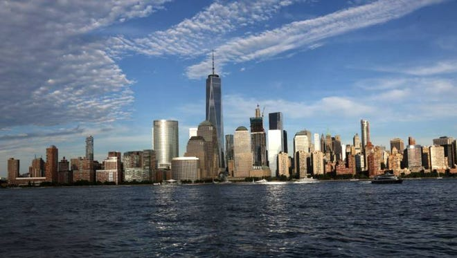 The downtown Manhattan skyline as seen on Aug. 18, 2016.
