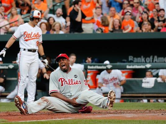 ***BESTPIX*** Philadelphia Phillies v Baltimore Orioles