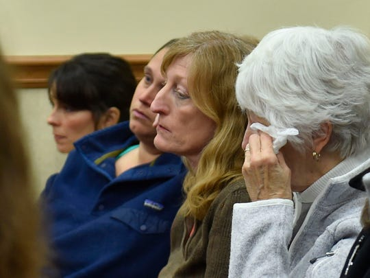 Door County Humane Society supporters listen to victim impact statements Friday against its former executive director Carrie Counihan in Door County Circuit Court.