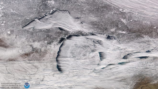 Lake-effect snow and its impact across Michigan, the Great Lakes and the Eastern United States and Canada.