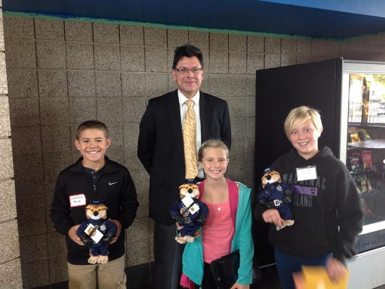 Three fifth-graders spend time with Marathon County