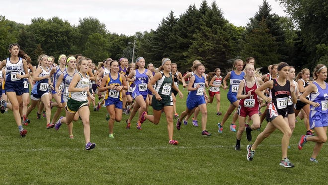 Scenes from the Kiel Invitational Cross Country Meet on Thursday at Kiel High School.