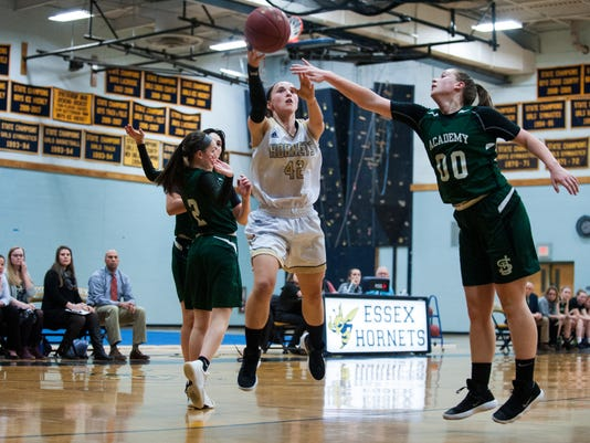 St. Johnsbury vs. Essex Girls Basketball 02/12/18