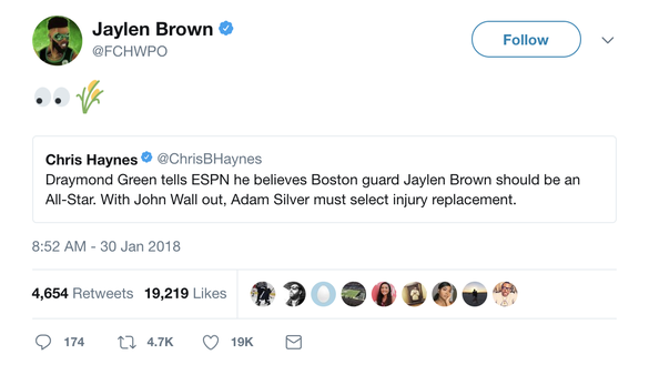 Ben Simmons and Jaylen Brown have curious reactions to Drummond's All-Star nod