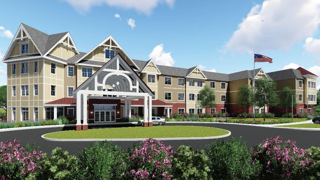 A planned senior housing development in Mount Laurel is shown in this provided rendering.