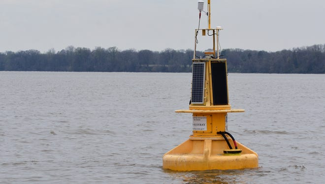 The Chesapeake Bay Foundation gives media a tour of the upper bay and lower Susquehanna River to highlight the improvements and threats to the watershed, Wednesday, April 12, 2017.  John A. Pavoncello photo