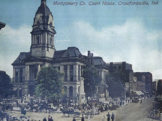 A vintage photograph showing the Montgomery County