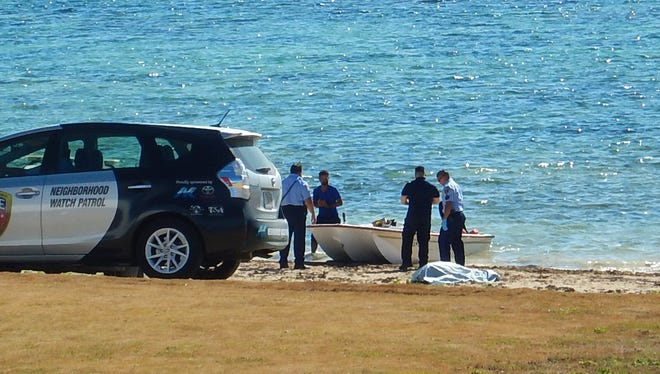 A dead man was found in a fishing boat Tuesday, June 13, 2017, according to Jeff Pleadwell of Jeff's Pirate's Cove.