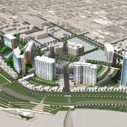 A 2006 rendering of the Ovation project