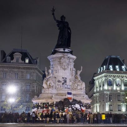 A memorial in Paris on Nov. 15.
