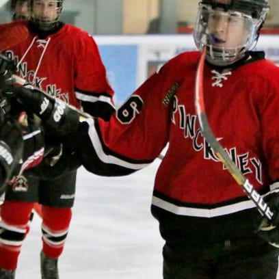 Pinckney's Connor Smith scored two goals in the Pirates 5-4 loss to Walled Lake Western on Monday.
