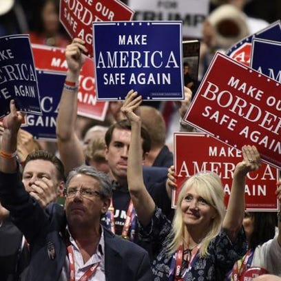 The Republican National Convention in Cleveland, July 18.