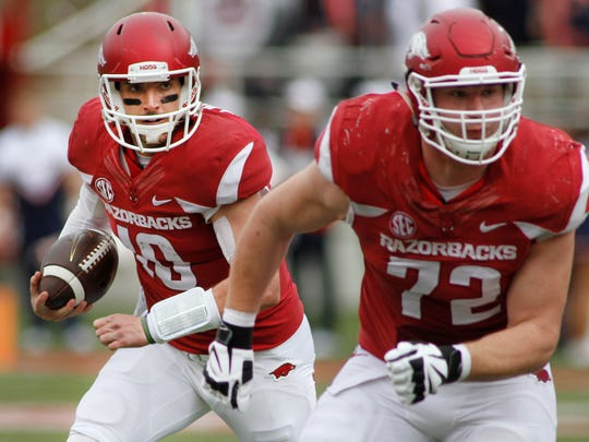 Arkansas center Frank Ragnow.
