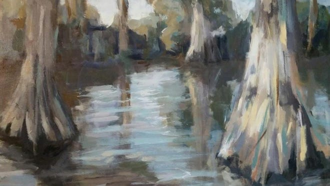 """A bayou scene by Spencer Schultz in the """"Wild Louisiana"""" exhibit in Winnsboro at the Old Post Office Museum. The show opens Thursday with a public reception from 5-7 p.m."""