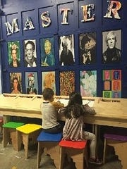 Young artists learn about other artists at the Garden State Discovery Museum in Cherry Hill.